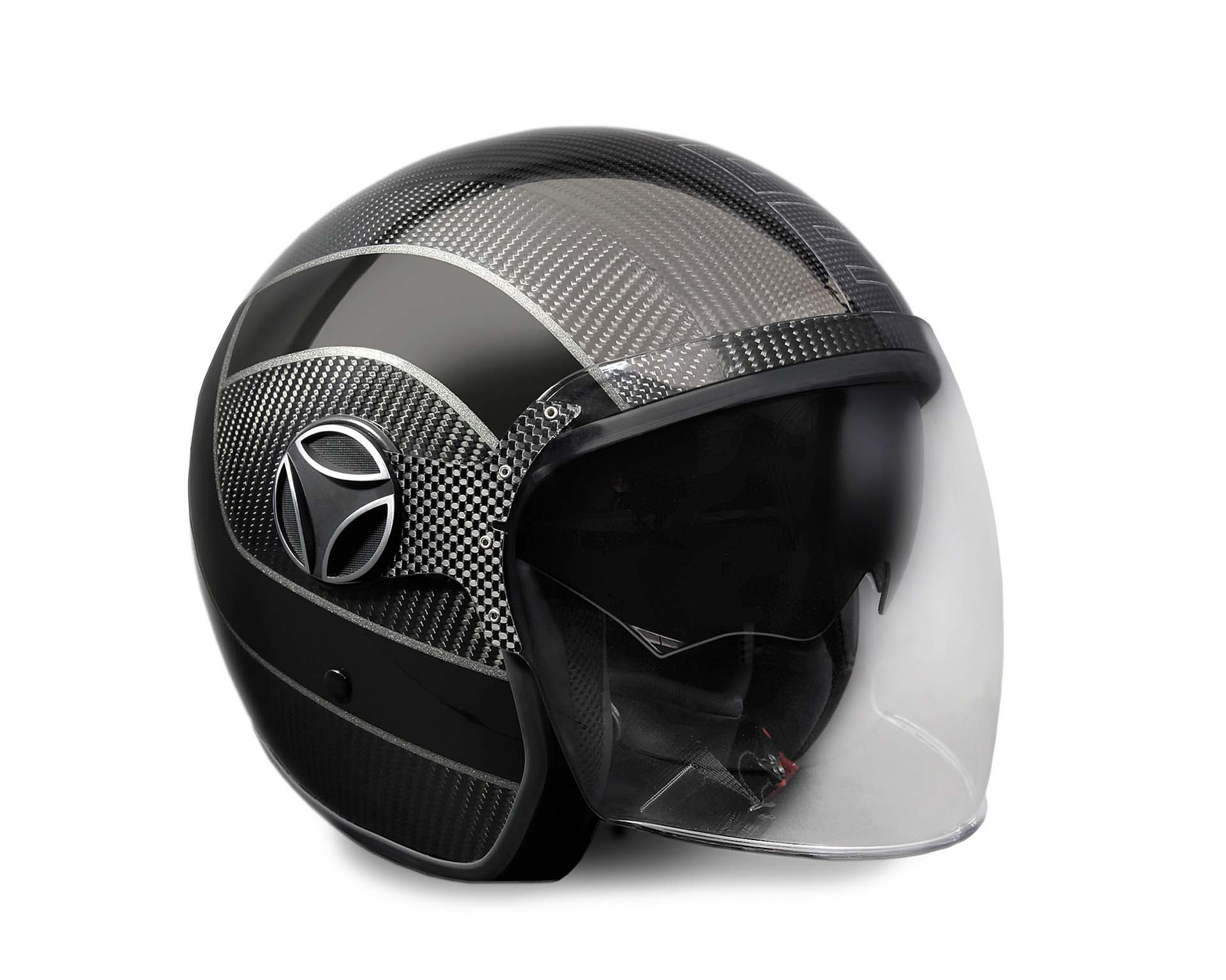 Casco MOMODESIGN Arrow Black e Carbon Edition