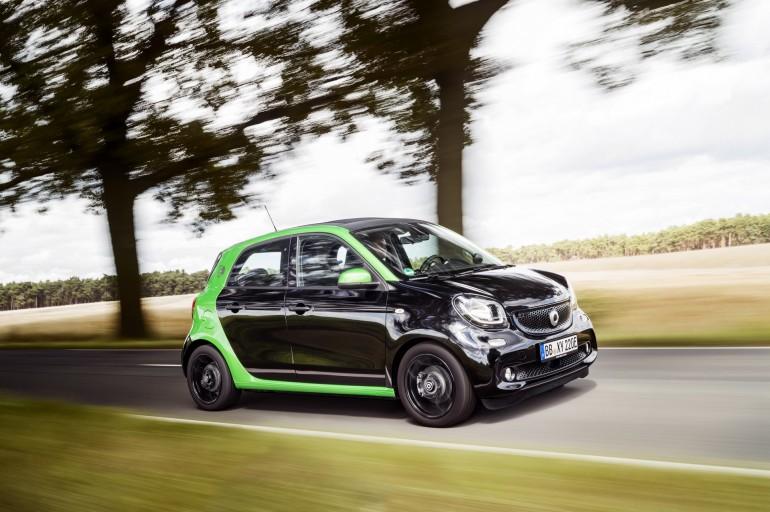 Smart ED: più potenza e autonomia per fortwo e forfour