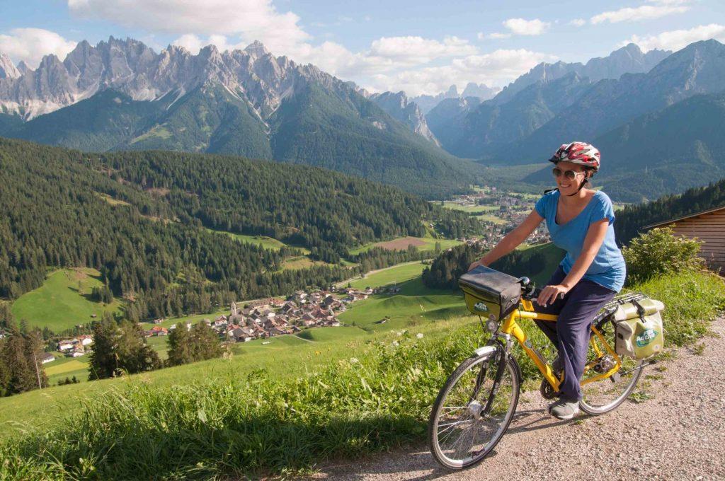Cicloturismo ai piedi delle Dolomiti